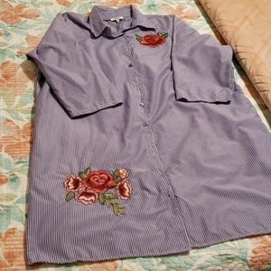 NWT button down dress or duster